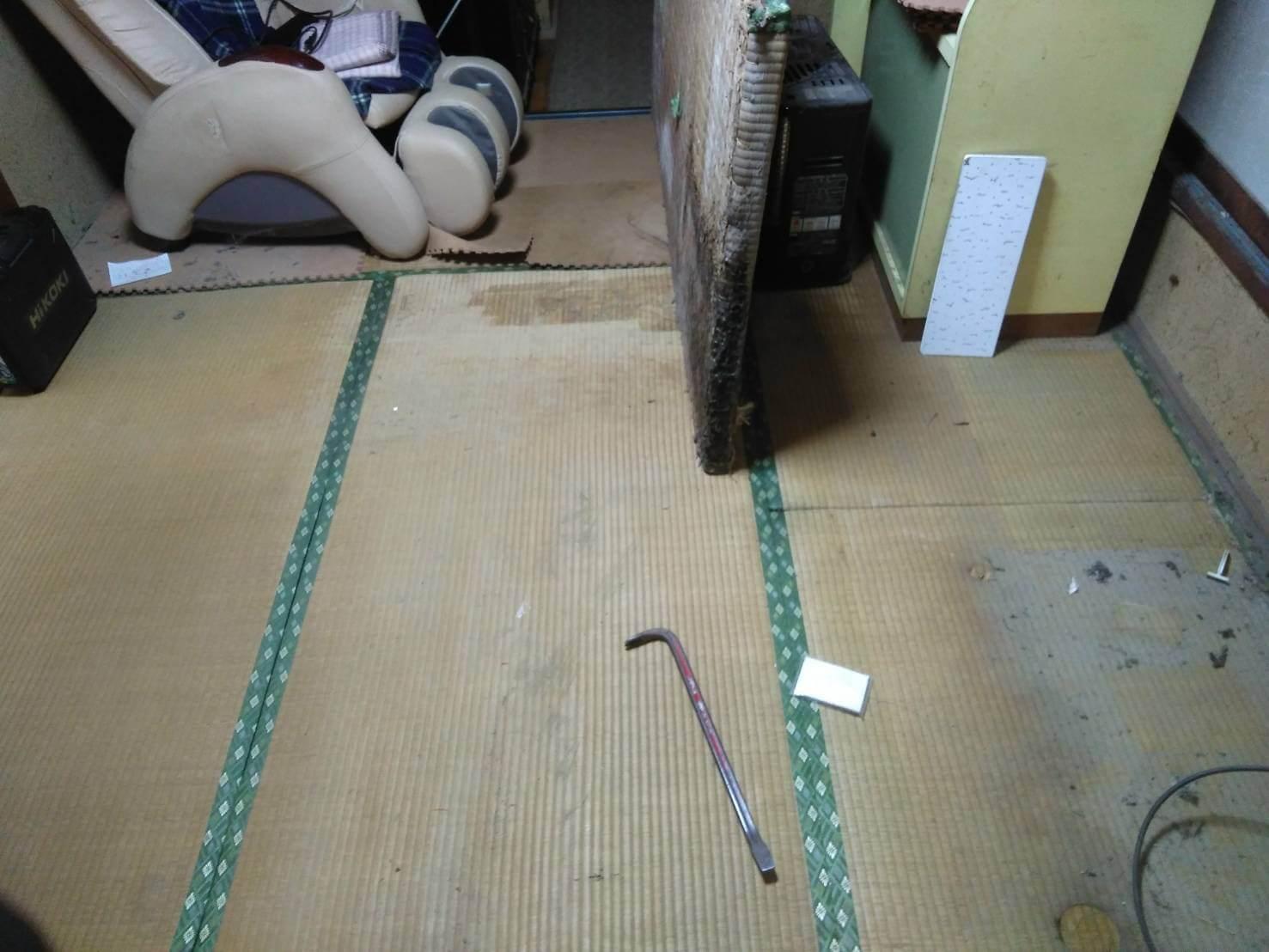 床の張り替え公示前