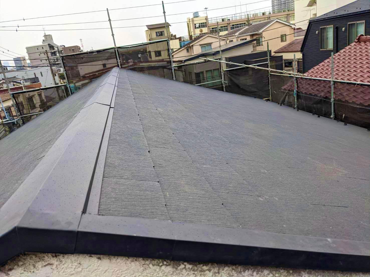 屋根の葺き替え工事後