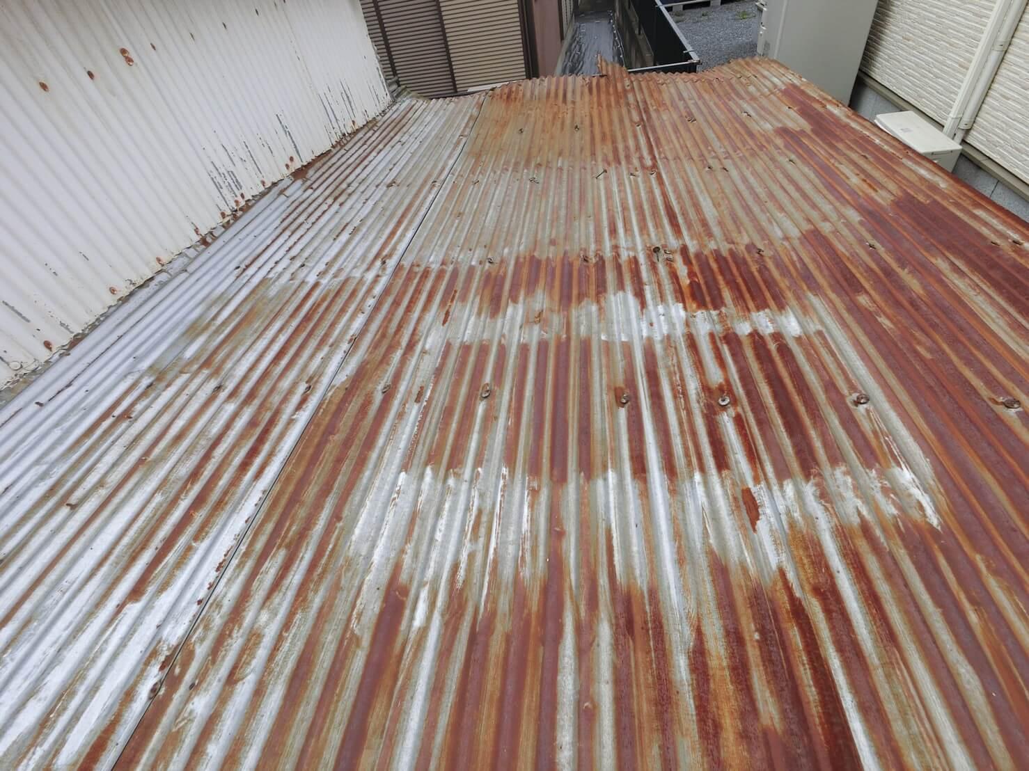 トタン屋根の張り替え前