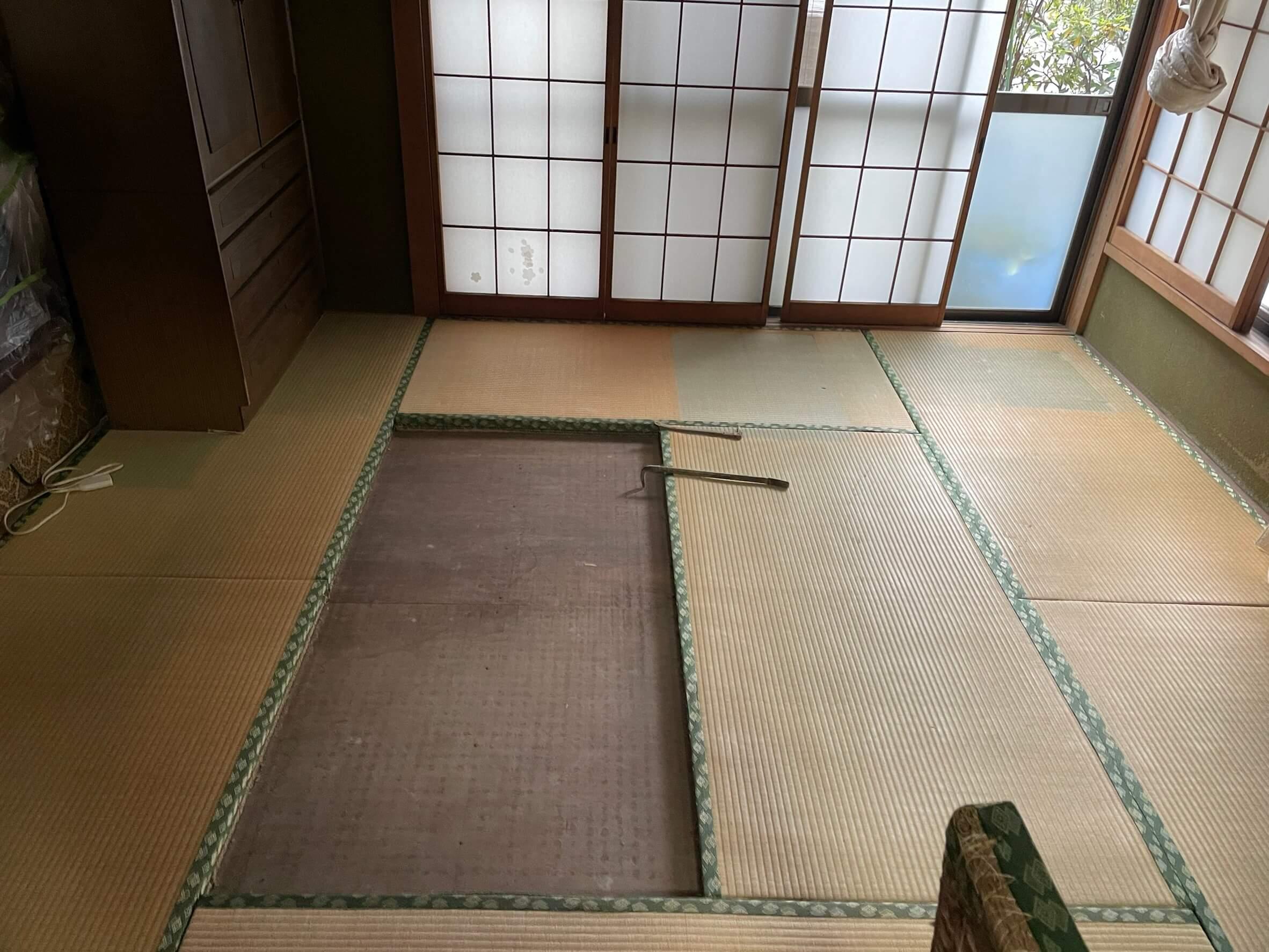 床の張り替え工事前