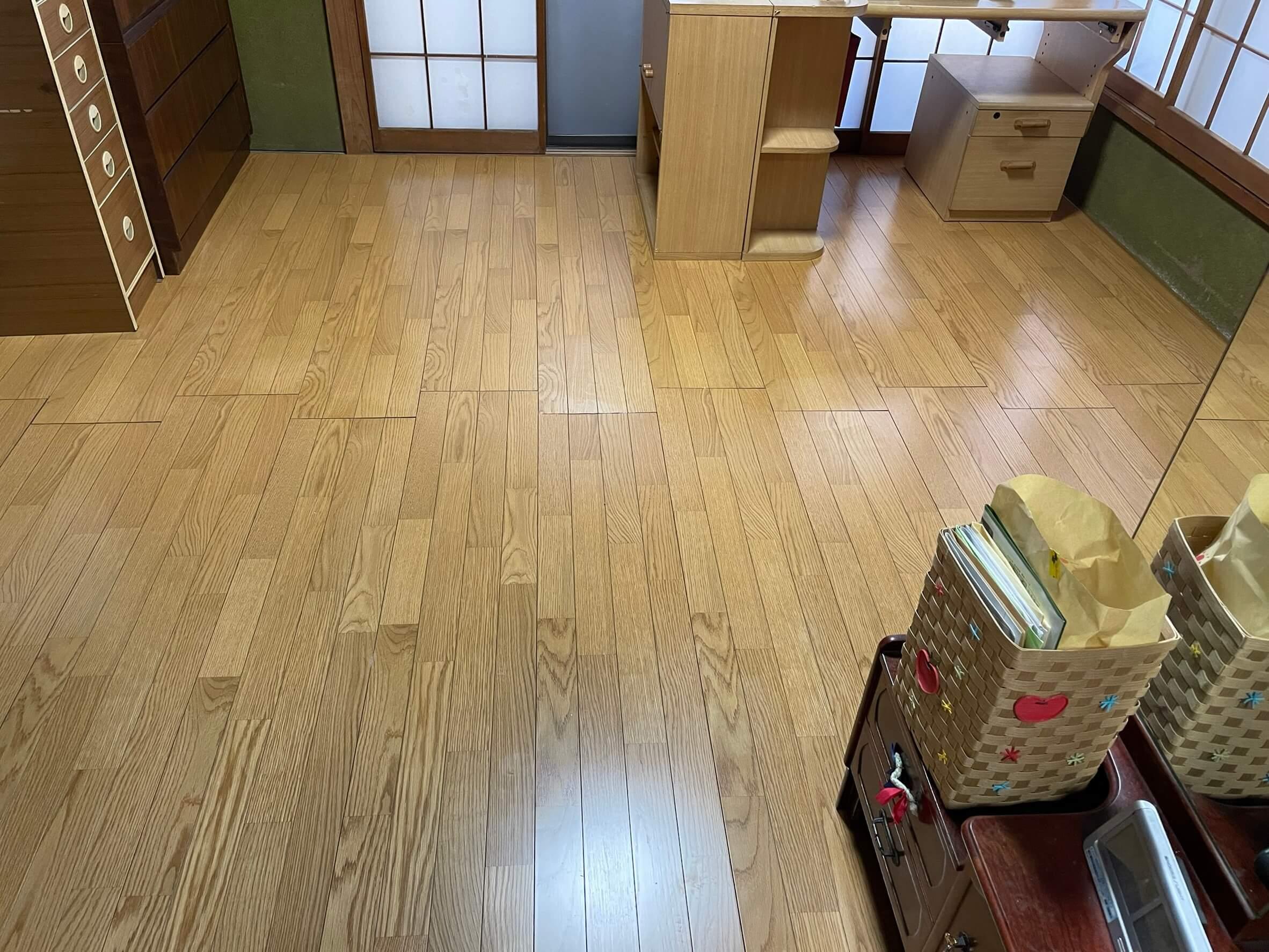 床の張り替え工事完了