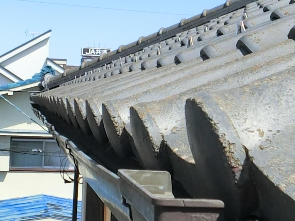 屋根の葺き替え工事前